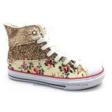 Высокая верхняя тапка ботинок женщин холстины (ET-YH160338W)