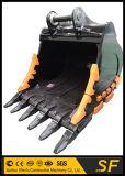 掘削機はDh300坑夫のDoosanの掘削機の石のバケツのための粉砕機のバケツを分ける