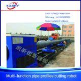 Fabricante de la cortadora del plasma del tubo del tubo del CNC del acero de carbón para la arquitectura naval