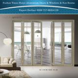 Алюминиевое Bi-Складывая изготовление двери с хорошим качеством