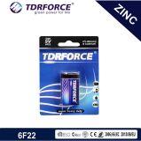 1.5V Heavy Duty Carbone-zinc batterie fabriquée par la Chine (6F22-9V)