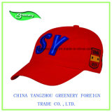 Выдвиженческая красная бейсбольная кепка с славной вышивкой