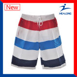 Shorts de Boardd da praia do Sublimation da amostra livre da fábrica de Healong para Mens