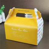 Rectángulo de torta impreso aduana al por mayor barata del papel de arte de la laminación de Matt
