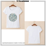 t-셔츠를 달려 주문 설계되는 패턴 면 조끼 여자