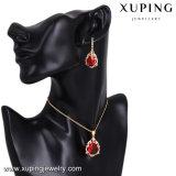 El conjunto de la joyería de la manera de 64174 Xuping, conjunto de la joyería de las mujeres con color del oro 18K plateó