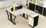 Konkurrenzfähiger Preis-Stahlfuss-Büro-Arbeitsplatz mit Tischplattenpartition (SZ-WS302)