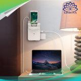 Carregador da parede do protetor de impulso de 6 tomadas com estação cobrando cobrando do USB das portas 5.2A 4 do USB e a doca cobrando do telefone