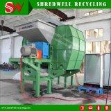 Una trinciatrice delle due aste cilindriche per il riciclaggio gomma utilizzata/pneumatico/legno residuo di Srap/metallo usato