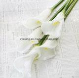 Fleurs Artificail PU vraie touche le commerce de gros Calla Lily pour la décoration
