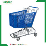 carro de compra plástico da mercearia do supermercado 100L