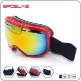 Nouveauté Antifog incassable de traitement des lunettes de sécurité de la neige Skateboard Sports de plein air Cadre Noir de l'objectif de l'Iridium polarisé Lunettes de ski