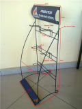 Kundenspezifischer Firmenzeichen-Metalldraht bauen Standplatz-Hilfsmittel-Ausstellung-Bildschirmanzeige-Zahnstange zusammen