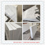 Countertop Китая Carrara белый мраморный для проектов кухни и ванной комнаты