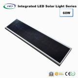60W PIR 센서를 가진 통합 LED 태양 가로등