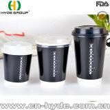 двойной бумажный стаканчик кофеего стены 4oz с крышкой