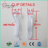 La qualité réutilisent a utilisé le clip en plastique d'emballage de chemise formé par R de 39mm pour le vêtement