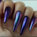 Unicorn espejo cromado Chameleon Glitter de pigmento de la perla para uñas