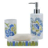 Dispensador de sabão de cerâmica do adesivo para banheiro Conjunto de acessórios