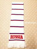 Связанный шарф вентилятора футбола полиэфира