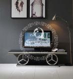 Tableau dinant de modèle moderne avec le dessus en verre noir Tempered