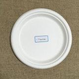 piatto biodegradabile della fibra della canna da zucchero 7inch