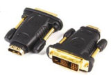 Le HDMI mâle à femelle Adaptateur d'extension, plaqué or