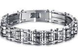 Fietser Bracelets&Bangles van de Motor van de Ketting van de Fiets van de Juwelen van het Roestvrij staal van de Armband van de Motorfiets van het Kristal van Bling de Zilveren