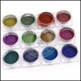 Chamäleon-Farbenreinheit-Gespür-Verschiebung-Nagel-Chrom-Pigment-Puder