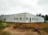 Contenedor de estructura de acero de la casa. Casa de prefabricados