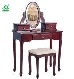 """С помощью зеркала в противосолнечном козырьке Merax табурет трюмо make-up"""" с 3 выдвижными ящиками и наружных зеркал заднего вида (с одной спальней вишня)"""
