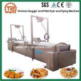 Linea di produzione della pepita di pollo e friggitrice del raccordo del pollo e macchina automatiche di frittura