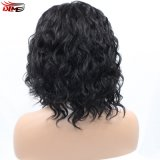 Волосы короткой волны Dlme 2017 естественные черные дешевые синтетические