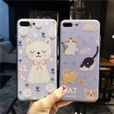 El nuevo pequeño gato lindo graba las cajas suaves del teléfono del borde del modelo para el iPhone 7 6s 6 más