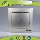 Interruttore BIANCO certificato CE/TUV/CB di spinta di Bell del gruppo variopinto del piatto 1 di standard europeo