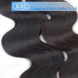 Extensions brésiliennes pures de cheveu de Vierge d'onde de corps (KBL-BH-BW)