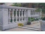 Natürlicher weißer/gelber Granit-/Marmorsteinhandlauf/Balustrade für Balkon/Treppe