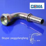 El racor hidráulico DIN 3861 Tubo Swagelok racores adaptadores giratorios de montaje del tubo rosca macho recta