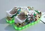 Мода загорается светодиод скейт обувь