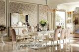 0062-1 mobilia bianca lunga antica di lusso italiana dell'insieme di colore della Tabella pranzante di legno solido