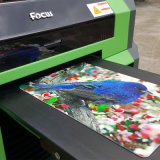 Impresora plana ULTRAVIOLETA usada transparente de la impresora de la tarjeta de visita de la tarjeta plástica de la caja del teléfono celular
