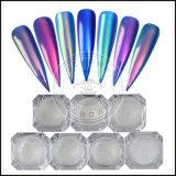 Einhorn-Neonspiegel-Funkeln-Puder-ultradünner Nagel-Kunst-Nixe-Chrom-Pigment-Puder-Nagel-Kunst-Staub-reines Farben-Gel