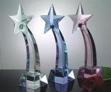 nel bello premio di cristallo cinque stelle di Tyophy di molti colori al ricordo