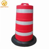 Barrière de sécurité du trafic routier en plastique Anti-Bump baril