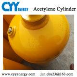 cilindro de gas del acero inconsútil del acetileno del lar del nitrógeno del oxígeno 40L