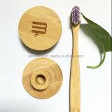 Support personnalisé de brosse à dents de logo fait en bambou