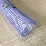 PVCプラスチック透過明確な水ホースのファイバーの編みこみの庭の管のホース