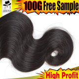 Prolonge réelle de cheveux humains, prolonge brésilienne de cheveu de la pente 10A