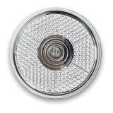 Rotes LED Licht runden Blinkensmit rückseitigem Klipp mit kundenspezifischem Firmenzeichen