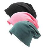 Le coton de femmes Jersey Jersey léger Slouchy Hat Beanie Cap